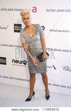 Emeli Sande at the 21st Annual Elton John AIDS Foundation Academy Awards Viewing Party held at the West Hollywood Park in Los Angeles, USA on February 24, 2013.