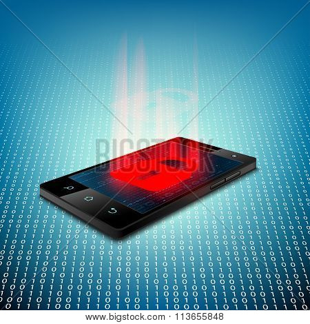 Black Smartphone. Stock Illustration.