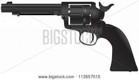 Revolver With A Cylindrical Drum