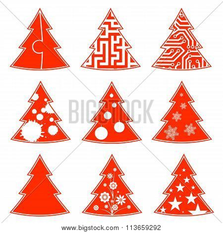 Christmas Tree. Stock Illustration.