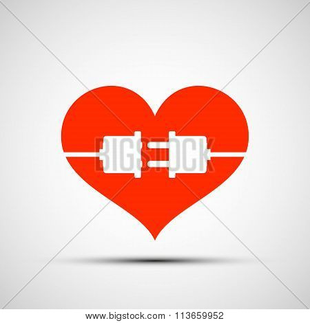 Heart Logo. Stock Illustration.