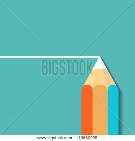 Pencil Draw. Stock Illustration.