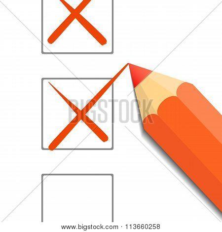 Pencil. Stock Illustration.