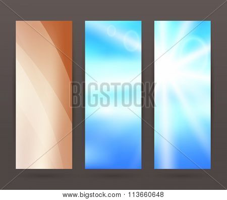 Set Vertical Banner Background Template Layout Flyer65