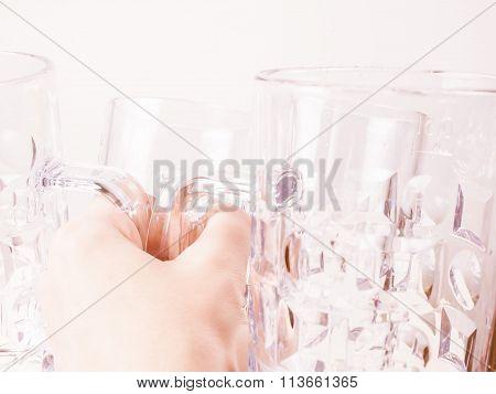 Empty Beer Glass Vintage