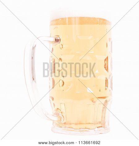 German Beer Glass Vintage