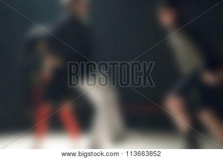 Contemporary dance performance theme blur background