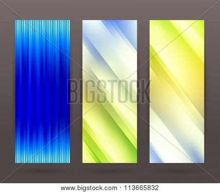 Set Vertical Banner Background Template Layout Flyer77