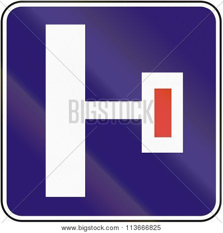 Road Sign Used In Slovakia - Dead End On The Right
