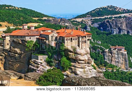 The Holy Monastery Of Varlaam. Trikala, Greece