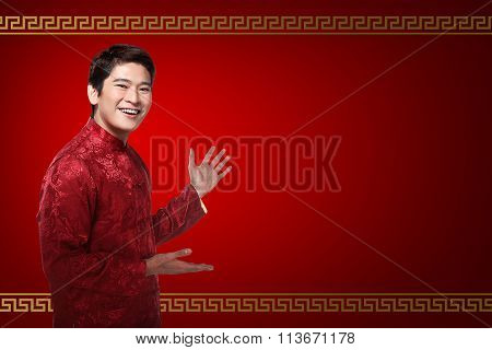 Chinese Man In Cheongsam Suit