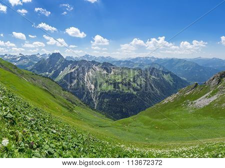 Mountain landscape in the Allgau Alps