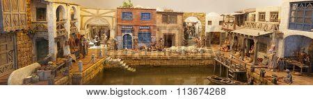 Nativity Scene On Harbor