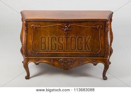 Studio shot of Chest of drawers Neo-Baroque style XX century. Denmark. poster