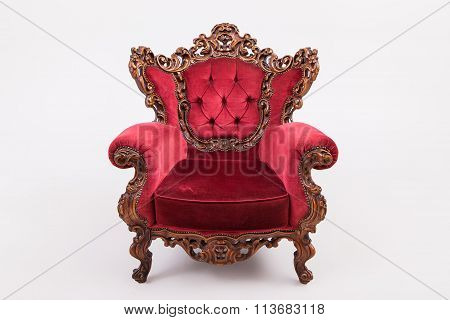 Antique Armchair Studio Shot