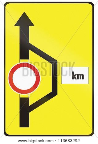 Road Sign Used In Slovakia - Detour