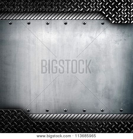 metal template with diamond plate