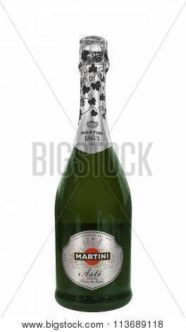 Bottle Of Sparkling Wine Martini Asti