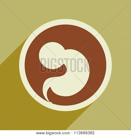 flat icon with long shadow child in womb