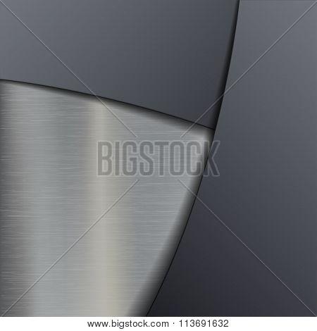 Metal Plate. Stock Illustration.