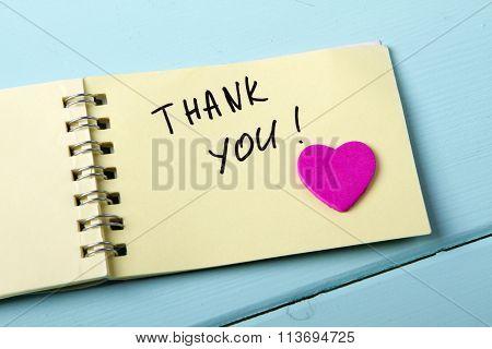 Thank You A spiral Notepad