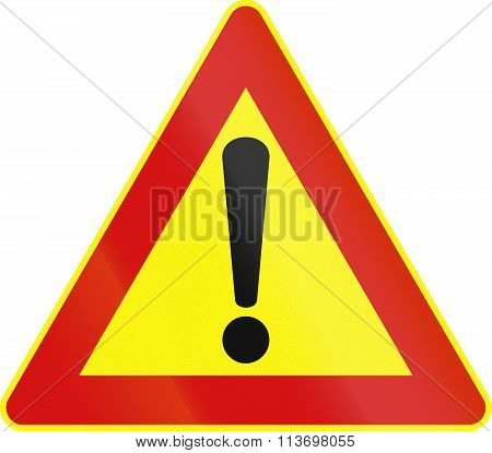 Road Sign Used In Italy - Other Dangers - Provisional