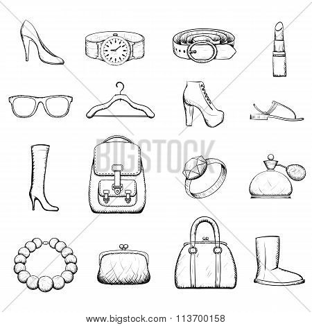 Accessories. Stock Illustration.