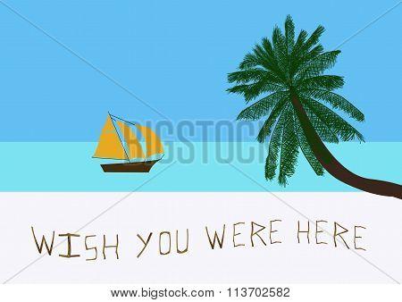 Message On A Tropical Beach