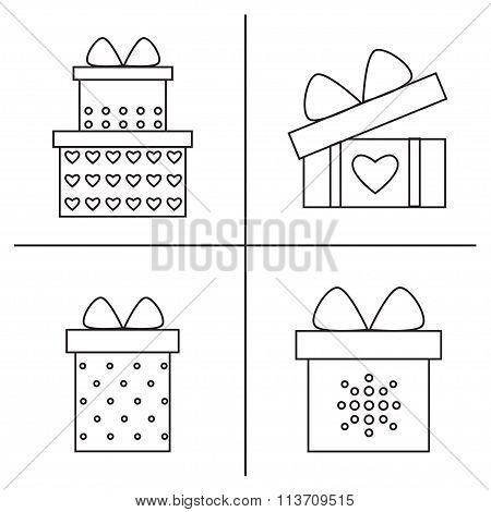 Gift boxes set.