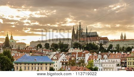 St. Vitus Cathedral and Hradcany in Prague, Czech Republic.