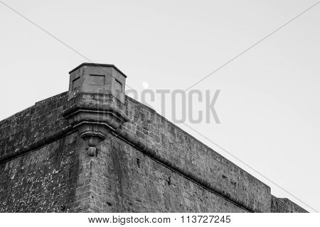 Guarding Point In Black And White