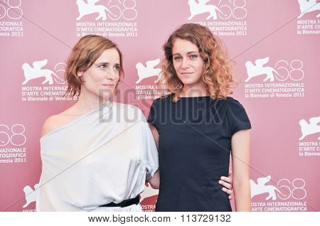 Actress Aggeliki Papoulia and Ariane Labed