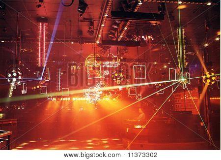 Disco Lighting in club