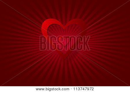 Simple love red hearts vector