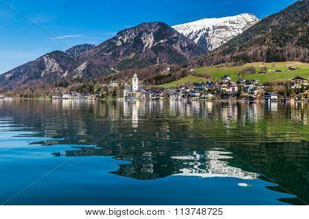 Wolfgang Lake,village,grosser Hollkogel-austria