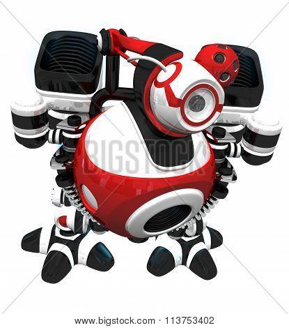 Webcam Robot Spy Concept Seeking New Content To Index