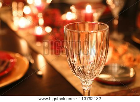 Candle Lite Dinner Table
