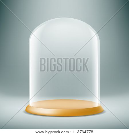 Glass Dome. Stock Illustration.
