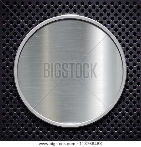 Steel Plate. Stock Illustration.