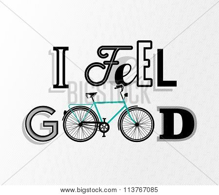 Bike Concept Bicycle Motivation Retro Text Poster