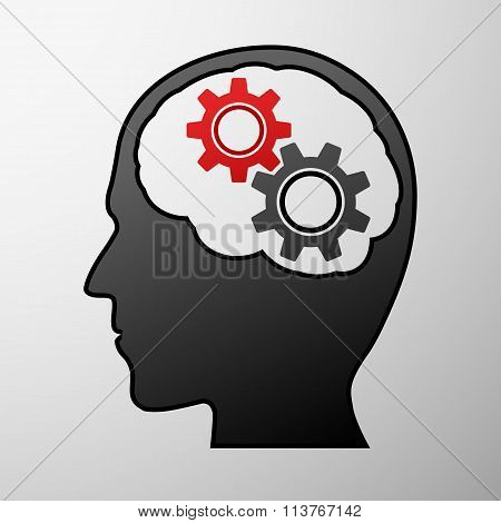 Human Head. Stock Illustration.
