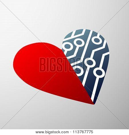 Human Heart. Stock Illustration.