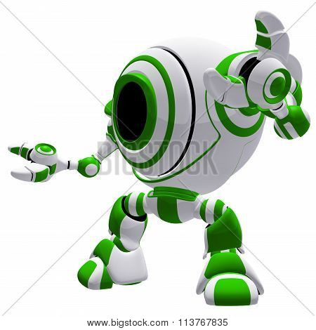 Small Green Robot Guardian defender