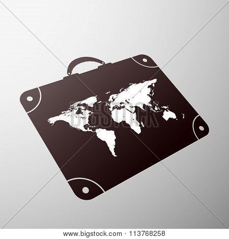 Suitcase. Stock Illustration.