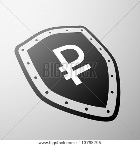 Rouble Currency. Stock Illustration.