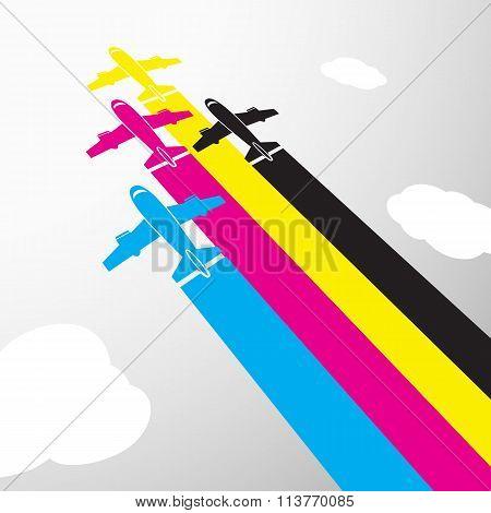 Colors Design. Stock Illustration.
