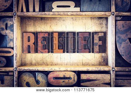 Relief Concept Letterpress Type