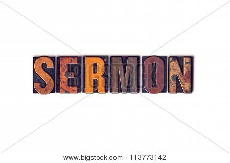 Sermon Concept Isolated Letterpress Type