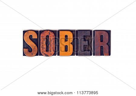 Sober Concept Isolated Letterpress Type
