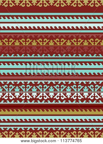 Seamless Kyrgyz national ornament pattern